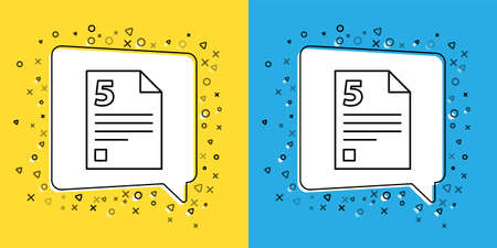 Set line Infinity icon isolated on yellow and blue background.  Vector Illustration.