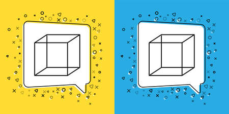 Set line Function mathematical symbol icon isolated on yellow and blue background. Vector Illustration.