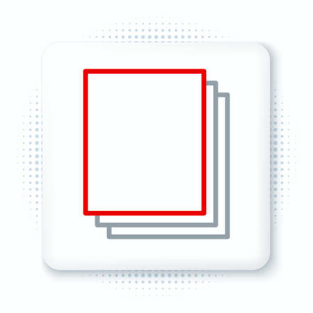 Line Clean paper icon isolated on white background. File icon. Checklist icon. Business concept. Colorful outline concept. Vector.