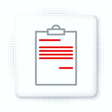 Line Document icon isolated on white background. File icon. Checklist icon. Business concept. Colorful outline concept. Vector.