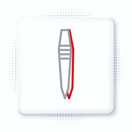 Line Tweezers icon isolated on white background. Colorful outline concept. Vector. Vektorgrafik