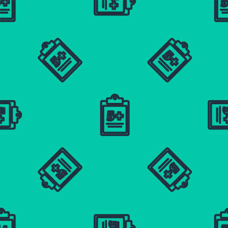 Blue line Mathematics function sine icon isolated seamless pattern on green background. Vector Illustration.