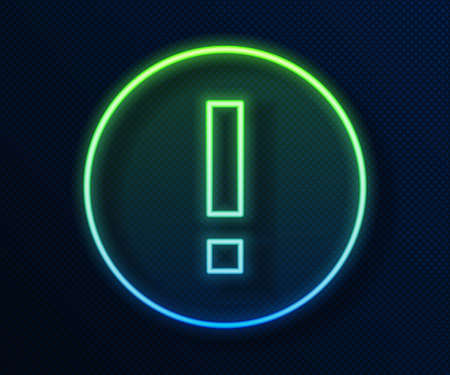Glowing neon line Information icon isolated on blue background. Vector Illustration. 일러스트