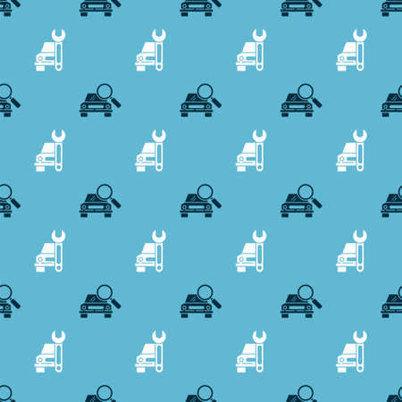 Set Car search and Car service on seamless pattern. Vector. Stock Illustratie