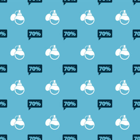 Set Seventy discount percent tag and Perfume on seamless pattern. Vector. Vectores