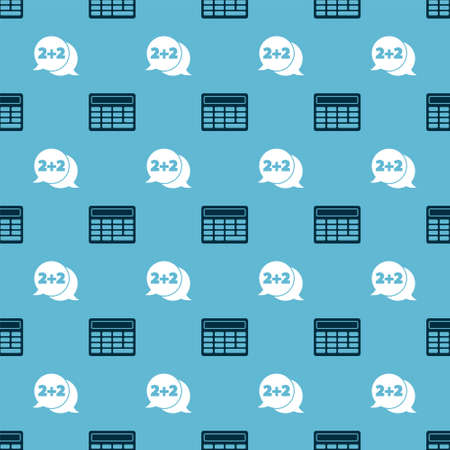 Set Calculator and Equation solution on seamless pattern. Vector.