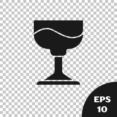 Black Cocktail icon isolated on transparent background.  Vector.