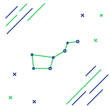 Line Great Bear constellation icon isolated on white background. Colorful outline concept. Vector