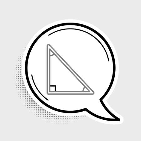 Line Triangle math icon isolated on grey background. Colorful outline concept. Vector