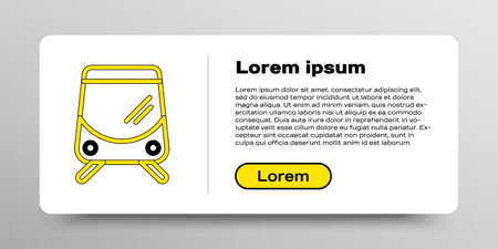 Line Tram and railway icon isolated on white background. Public transportation symbol. Colorful outline concept. Vector 矢量图像