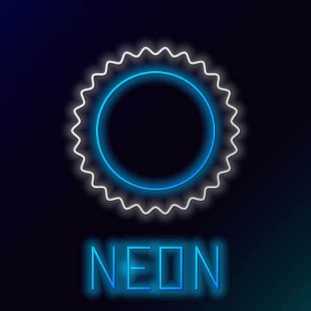 Glowing neon line Sun icon isolated on black background. Summer symbol. Good sunny day. Colorful outline concept. Vector