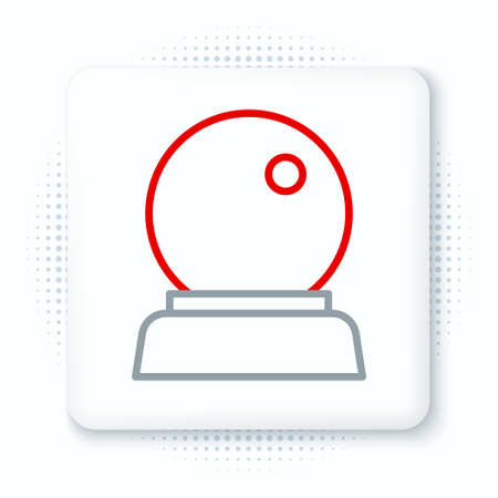 Line Magic ball icon isolated on white background. Crystal ball. Colorful outline concept. Vector  イラスト・ベクター素材