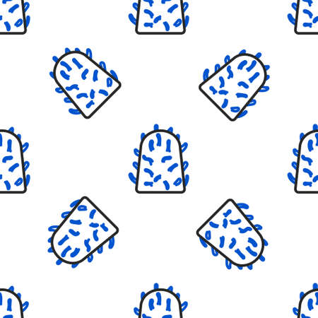 Line Rabies virus disease microorganisms icon isolated seamless pattern on white background. Colorful outline concept. Vector
