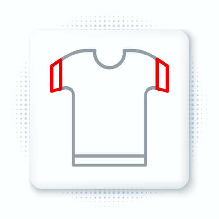 Line T-shirt icon isolated on white background. Colorful outline concept. Vector
