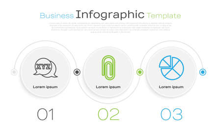 Set line Calculator, Book with word mathematics and Abacus. Business infographic template. Vector