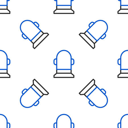 Line Buoy icon isolated seamless pattern on white background. Colorful outline concept. Vector