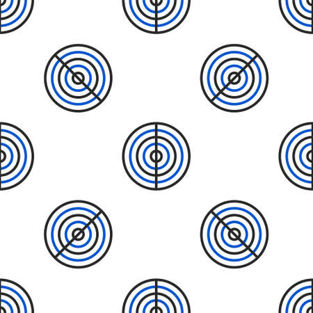 Line Earth structure icon isolated seamless pattern on white background. Geophysics concept with earth core and section layers earth. Colorful outline concept. Vector