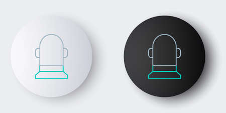 Line Buoy icon isolated on grey background. Colorful outline concept. Vector