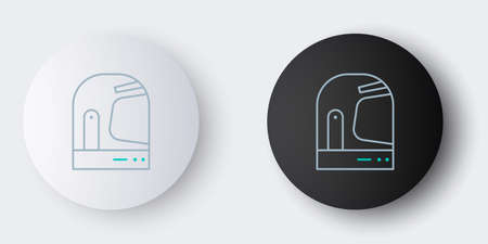 Line Astronaut helmet icon isolated on grey background. Colorful outline concept. Vector