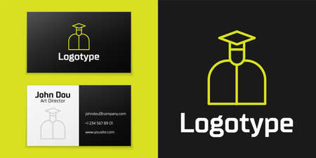 line Student icon isolated on black background.   design template element. Vector Illustration Ilustração