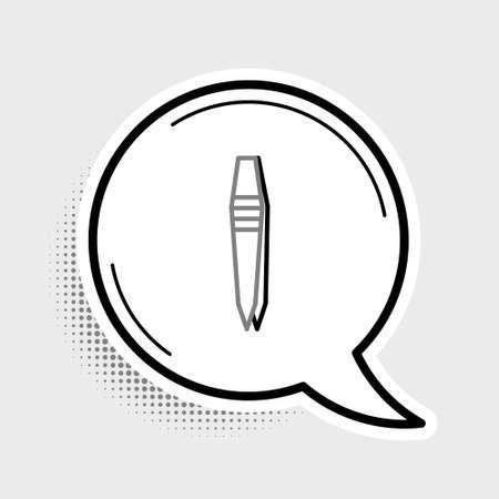 Line Tweezers icon isolated on grey background. Colorful outline concept. Vector Vektoros illusztráció