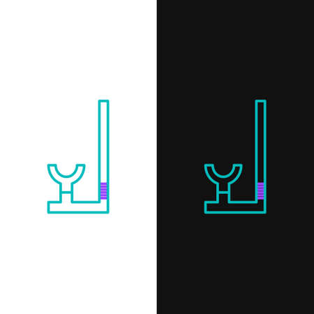 Line Snorkel icon isolated on white and black background. Diving underwater equipment. Colorful outline concept. Vector