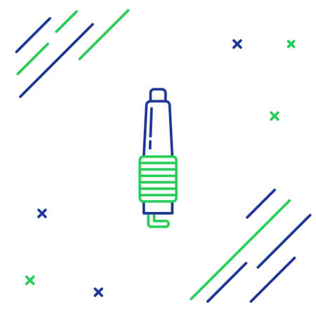 Line Car spark plug icon isolated on white background. Car electric candle. Colorful outline concept. Vector