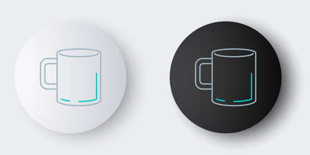 Line Coffee cup icon isolated on grey background. Tea cup. Hot drink coffee. Colorful outline concept. Vector Ilustração