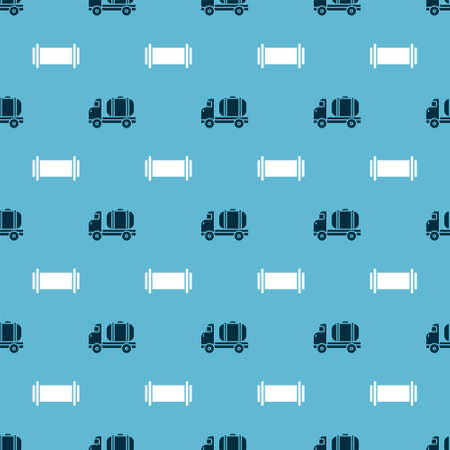 Set Tanker truck and Industry pipe on seamless pattern. Vector 向量圖像