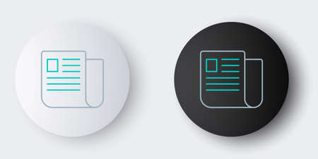 Line File document icon isolated on grey background. Checklist icon. Business concept. Colorful outline concept. Vector