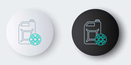 Line Antifreeze canister icon isolated on grey background. Auto service. Car repair. Colorful outline concept. Vector 向量圖像