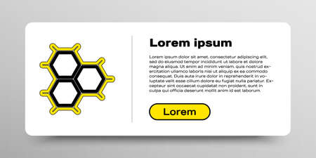 Line Chemical formula consisting of benzene rings icon isolated on white background. Colorful outline concept. Vector