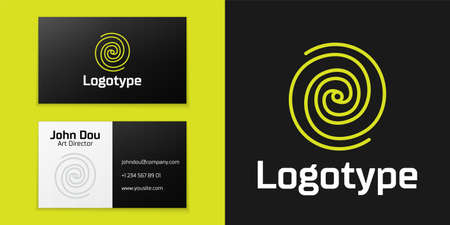 line Black hole icon isolated on black background. Space hole. Collapsar.   design template element. Vector Illustration