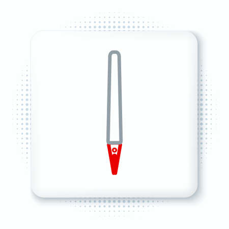 Line Pen icon isolated on white background. Colorful outline concept. Vector