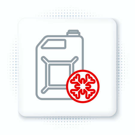 Line Antifreeze canister icon isolated on white background. Auto service. Car repair. Colorful outline concept. Vector 向量圖像