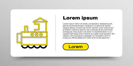 Line Toy train icon isolated on white background. Colorful outline concept. Vector