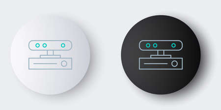 Line Motion sensor icon isolated on grey background. Colorful outline concept. Vector