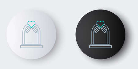 Line Wedding arch icon isolated on grey background. Wedding decoration. Colorful outline concept. Vector Illustration