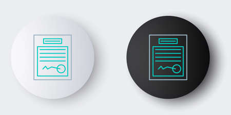 Line Filled form icon isolated on grey background. File icon. Checklist icon. Business concept. Colorful outline concept. Vector Illustration