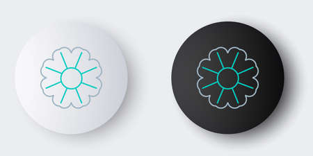 Line Flower icon isolated on grey background. Colorful outline concept. Vector