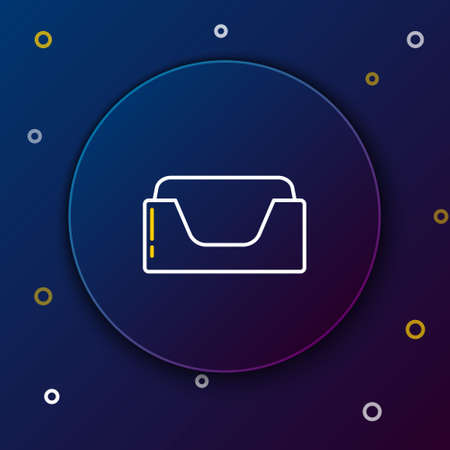 Line Pet bed icon isolated on blue background. Colorful outline concept. Vector Stock Illustratie