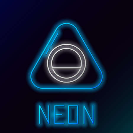 Glowing neon line Pet bed icon isolated on black background. Colorful outline concept. Vector