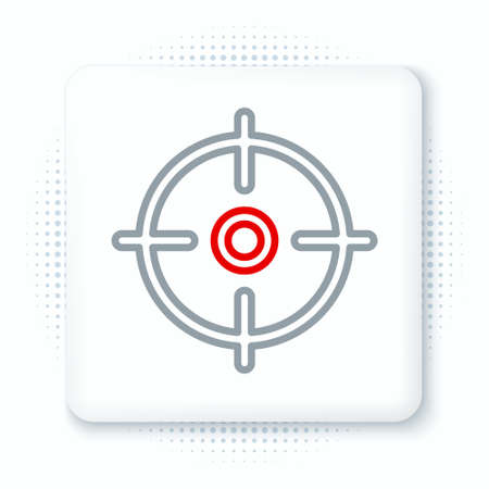 Line Target sport icon isolated on white background. Clean target with numbers for shooting range or shooting. Colorful outline concept. Vector