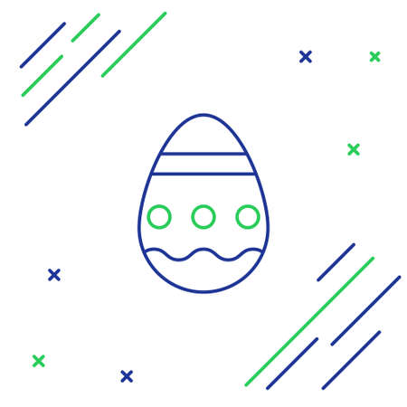Line Easter egg icon isolated on white background. Happy Easter. Colorful outline concept. Vector