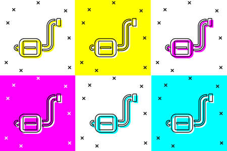 Set Bicycle pedal icon isolated on color background. Vector