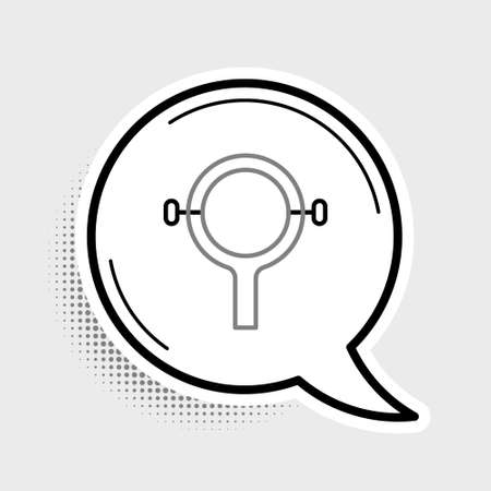 Line Filter wrench icon isolated on grey background. The key for tightening the bulb filter trunk. Colorful outline concept. Vector Иллюстрация