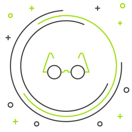 Line Eyeglasses icon isolated on white background. Colorful outline concept. Vector Vettoriali