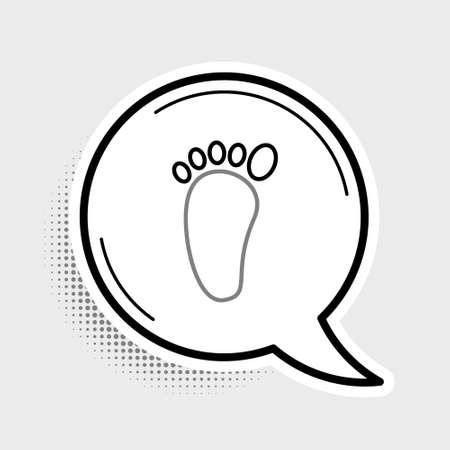Line Foot massage icon isolated on grey background. Colorful outline concept. Vector Ilustração