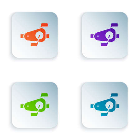 Color Bicycle pedals icon isolated on white background. Set colorful icons in square buttons. Vector Ilustrace