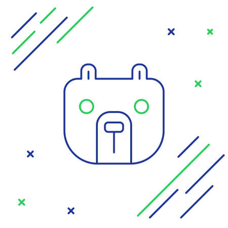 Line Bear market icon isolated on white background. Financial and stock investment market concept. Colorful outline concept. Vector